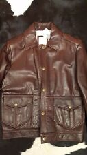 NWB BILLY REID HARD WEARING LEATHER BOMBER JACKET 42 40 L MADE IN USA