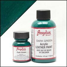 Angelus Acrylic Leather Paint Dark Green 4oz Colour f Shoes/Sneakers/Jacket/Car