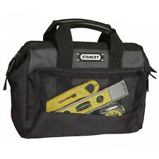 "Stanley 12"" Strong Toolbag Plumber Electrician Tool Storage Bag Handle Pockets"