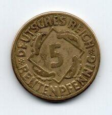 Germany - Duitsland - 5 Pfennig 1924 G