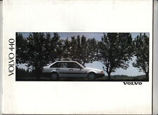 3 x 1990 VOLVO 440 Brochures in English - 42p Prestige, ACCESSORIES & 4p Folder