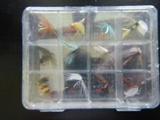 Vintage Fly Fishing Flies with New/old stock case 12 total (still in orig. wrap)
