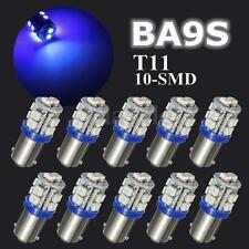 10x Blue T11 T4W BA9S 1210 SMD 10 LED Car Wedge Side Light Bulb Width Lamp 12V