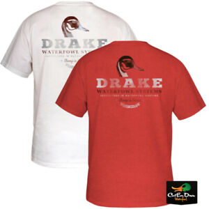 NEW DRAKE WATERFOWL SYSTEMS PINTAIL DUCK HEAD LOGO S/S T-SHIRT TEE