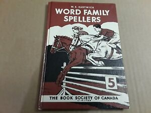 Vintage Word Family Spellers Hard Cover Book. Grade 5. Home Schooling