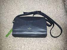 KATE SPADE-Bridge Place-Betsi-Black Leather Shoulder/Crossbody Bag w/Bow-NWT