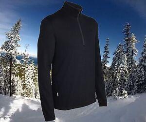 Icebreaker Original 320 Thick Merino Wool 1/4 Zip Sweater Top Mens 3XL Nwt $170