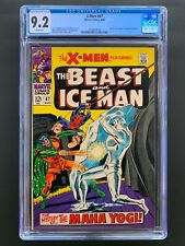 X-Men 47  CGC 9.2  White Pages  Human Torch Cameo  Beast and Iceman  Marvel 8/68