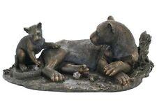 """15"""" Leopard & Cub Statue Sculpture Figurine Animal Decor Figure Wildlife Safari"""