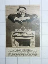 1920 Mr Charles Withers With His Model Stage Sketch In Whirligig Palace Theatre