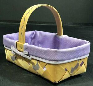 "Home Decoration Baskets Handmade Purple New Duck Print Lightweight 9.25""x5.5""x3"""