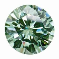 2.70 Ct Round Cut Moissanite Fancy Green 9mm Diameter Loose Stone C&C