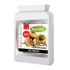 Maca Racine Capsules 120 Comprimés Extrait Sexuel Santé Lepidium Meyenii Purvitz