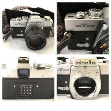 📷 MINOLTA SRT-202 35mm SLR FILM CAMERA w/ROKKOR-X 50mm 1:1.7 LENS EX Vintage 📷