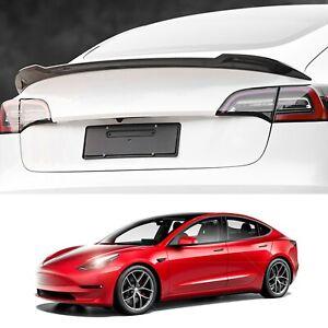 Model 3 Spoiler Wing Performance Rear Trunk Lip Tail Lid  (Carbon Fiber)
