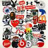 46PCS Stickers Vinyl Skateboard Guitar Travel Case Pack Tide Brand Logo Decals