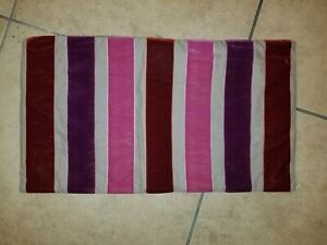 "West Elm ""Purple Velvet Striped"" 12 X 21"" Pillow Cover"
