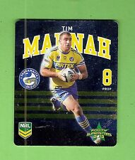 TIP TOP NRL 2013 RUGBY LEAGUE FOOTY SUPERSTARS TAZO #18 TIM  MANNAH, PARRAMATTA