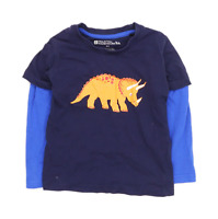 Mountain Warehouse Boys Graphic Blue Dinosaur T-Shirt Age 3-4 Years