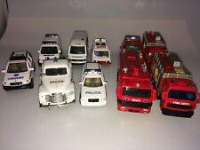 10 x Emergency Vehicles Diecast Set Police Ambulance Fire Engine Bundle