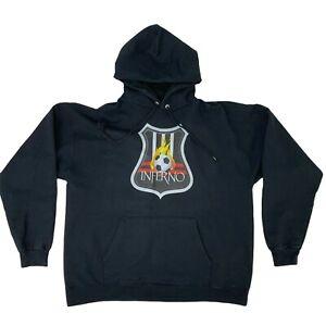 Arizona Inferno Sweatshirt Men's Size XL Black Hoodie Cotton Pullover Soccer