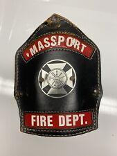 RARE Massport (Logan Airport) Fire Department Leather Helmet Shield