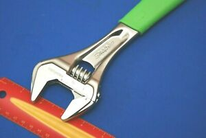 """NEW Snap-on 12"""" Flank Drive Plus Green Soft Grip Adjustable Wrench FADH12BG"""