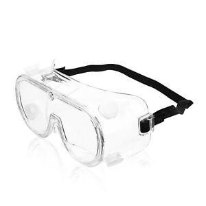 CE Chemical Splash Protective Lens Safety Goggles Glasses Specs Eye Protection