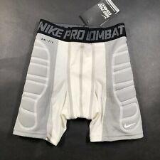 Nike Pro Combat Youth Boys S Baseball Compression Padded Shorts White Dri-Fit