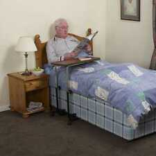 NRS Healthcare M01278 Over Bed / Chair Hospital Table - Divan Style, Tilting