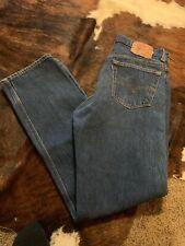 501 Levi's 34 x 32  Button Fly Straight Leg *** Dark Blue