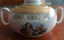 """Vintage SABIN"""" Crest-O-Gold """" Sugar Bowl with Lid. 22k Warranted-1930's"""