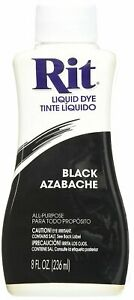RIT DYE Liquid Fabric Dye Black To Dye Clothing And Accessories 8 fl. oz. 236 ml