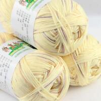 Sale Lot 3 Balls x50g Soft Bamboo Cotton Baby Wrap Hand Knitting Crochet Yarn 37