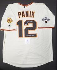 JOE PANIK Autographed SF GIANTS, WORLD SERIES CHAMP Jersey XL SZ. WITNESS BECKET
