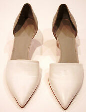 $295+ VINCE KITTEN POINTY HEELS SHOES D'ORSAY PUMPS AURELIAN TWO TONE LEATHER