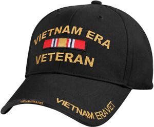 Black Vietnam ERA Veteran Deluxe Low Profile Baseball Hat Cap