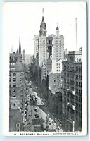 *Broadway Avenue Street View New York City NY Vintage Illustrated Postcard B65
