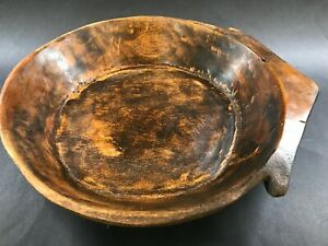 Vintage Pacific Islands Oceania Tribal Wooden Bowl