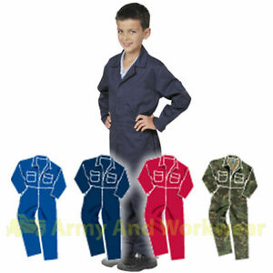 Childrens Kids Coverall Overalls Boilersuit Boys & Girls Childs Boiler Suit Work