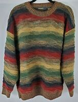Vintage Men's Bachrach Cosby Pullover Sweater Hip Hop Textured XL