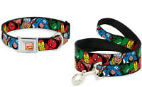 Buckle Down Dog Collar or Leash Marvel Avengers Hulk Thor Iron Spider Made USA