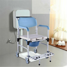 Adjustable Mobile Commode Shower Chair Disability Aid with Wheels