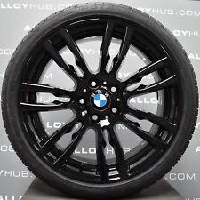 "GENUINE BMW 3 SERIES 403M SPORT F30/31 BLACK 19""INCH ALLOY WHEELS+NEW TYRES X4"
