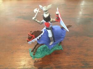 Timpo Helm/ Knight Of the Middle Ages Mounted - Light Blue - Medieval - 1970's