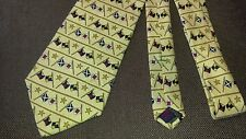 Tommy Hilfiger tie Nautical Flags yachet sailing gold navy red silk made in USA