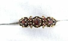 10Kt REAL Yellow Gold Round Garnet Gem Stone Gemstone Ladies Custom Casted Ring