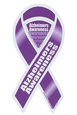 Magnetic Bumper Sticker - Alzheimers Awareness - Ribbon Shaped Support Magnet