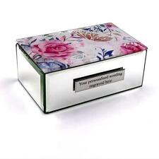 Personalised Lovely Butterfly and Flower Jewellery Box Gift 281012-P