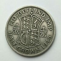Dated : 1948 - Half Crown - 1/2 Crown Coin - King George VI - Great Britain